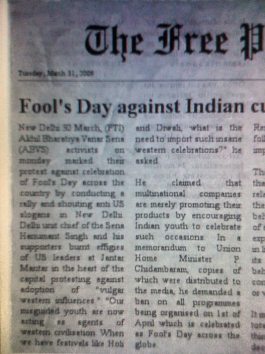 ABVS against Fool's Day